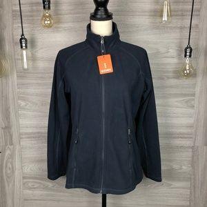 Elevate Navy Rixford Fleece Jacket Size Medium